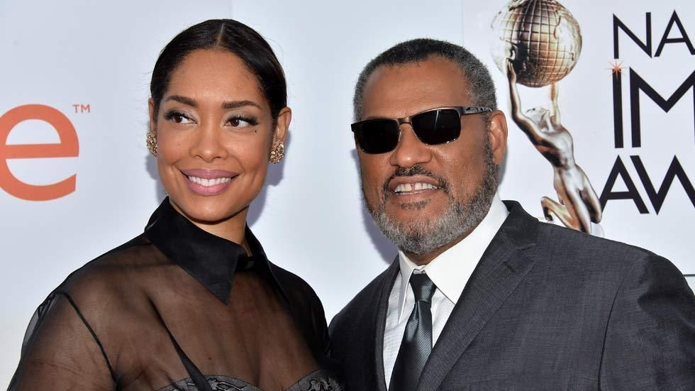 Hollywood couple Gina Torres and Lawrence Fishburne