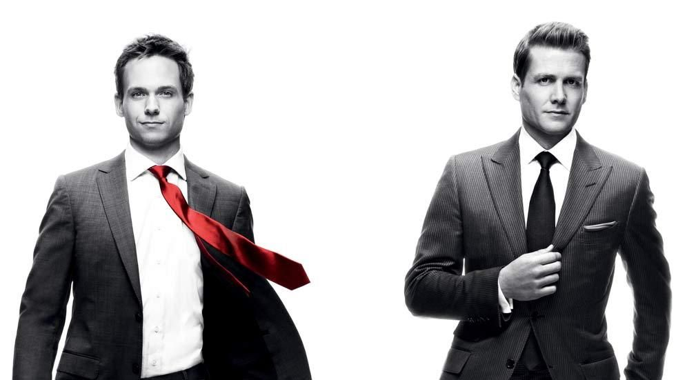 Artwork for TV series on M-Net, Suits, with the lead actors Mike and Harvey