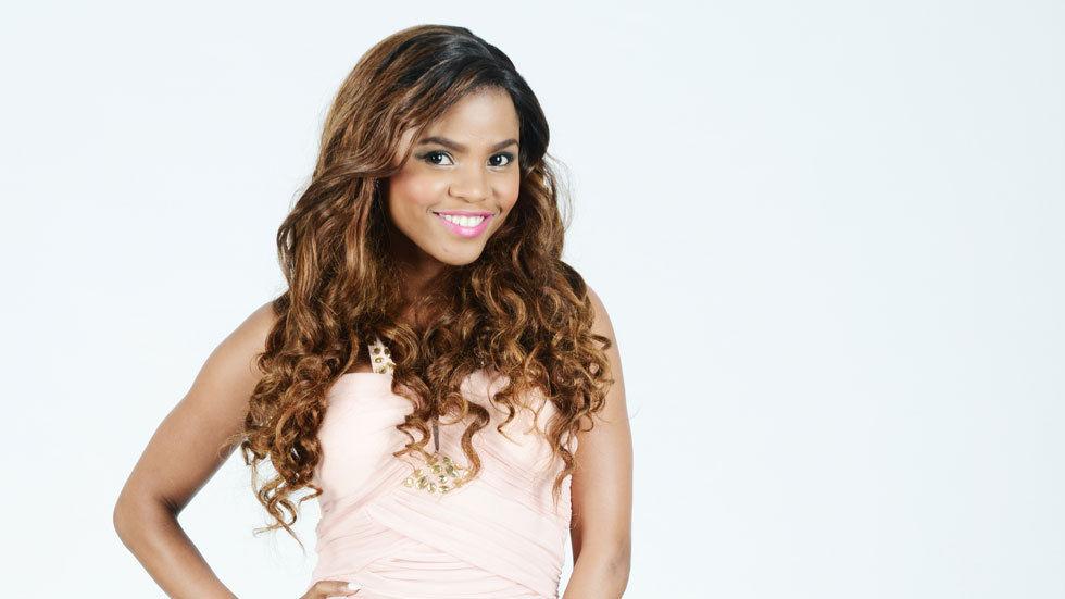 Khanya Mkhangisa as Nolitha on Rockville Season three standing holding hip on white background