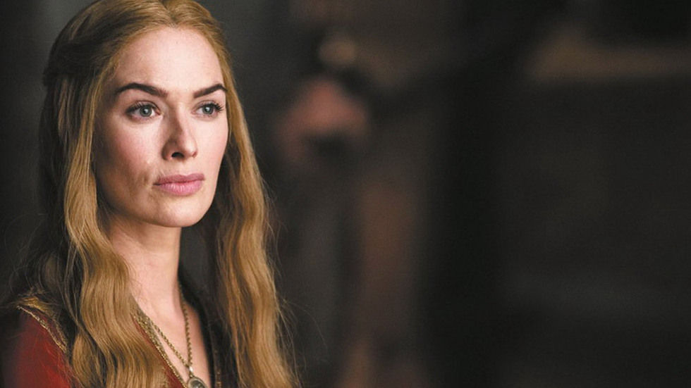 Cersei Lanister from Game of Thrones, close up.
