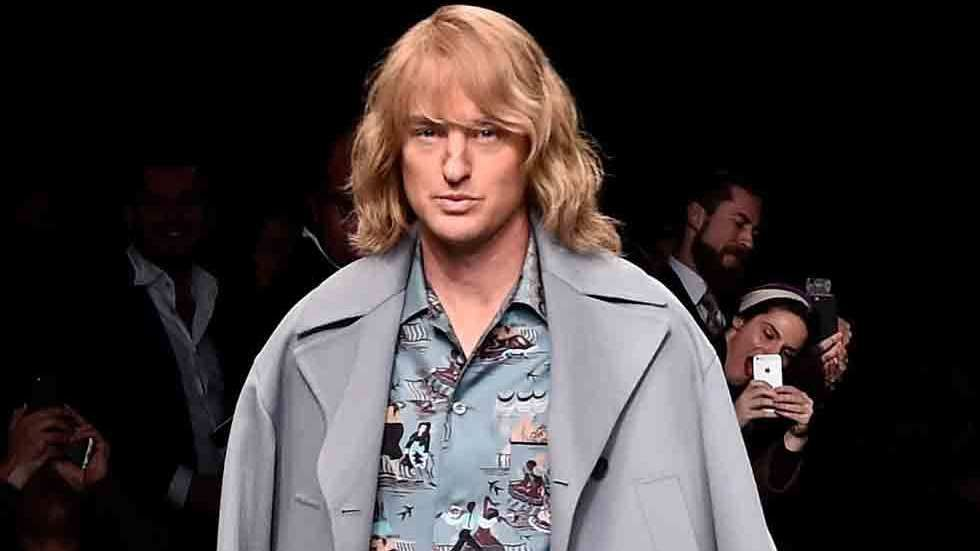 Owen Wilson on fashion parade