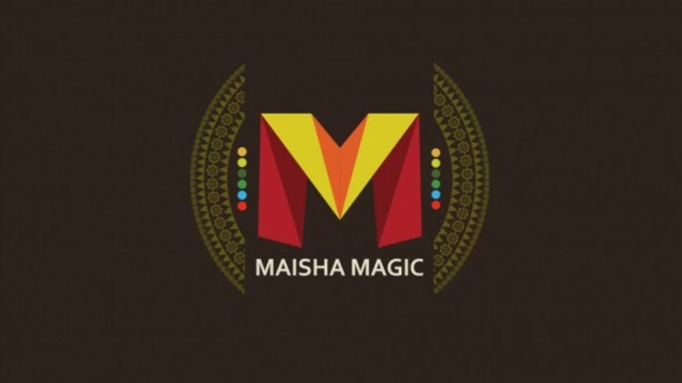 the Maisha Magic Logo with a brown background