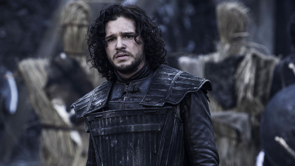 Jon Snow played by Kit Harrington in Game of Throne, sad.