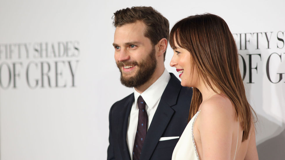 Fifty Shades of Grey's Christian Grey and Anna Steel played by Jamie Dornan and Dakota Johnson.