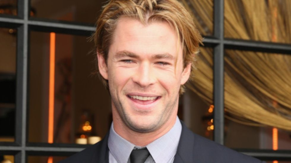 Chris Hemsworth (Thor), a smile for the camera