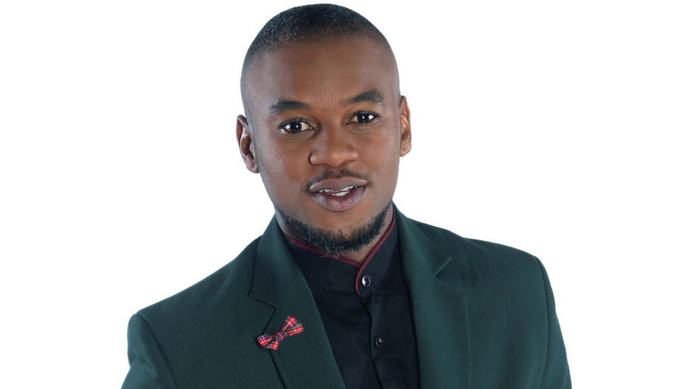 Big Brother Mzansi publicity shoot, Lungile Radu poses looking at the camera