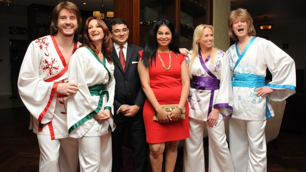 The Abba Reunion Tribute Band at the Villa Rosa Kempinski.
