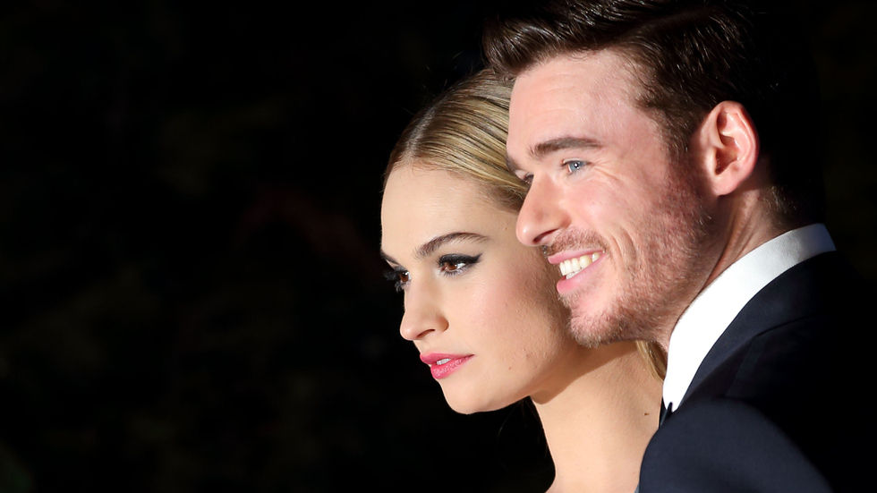 Richard Madden and Lily James from Cinderella.