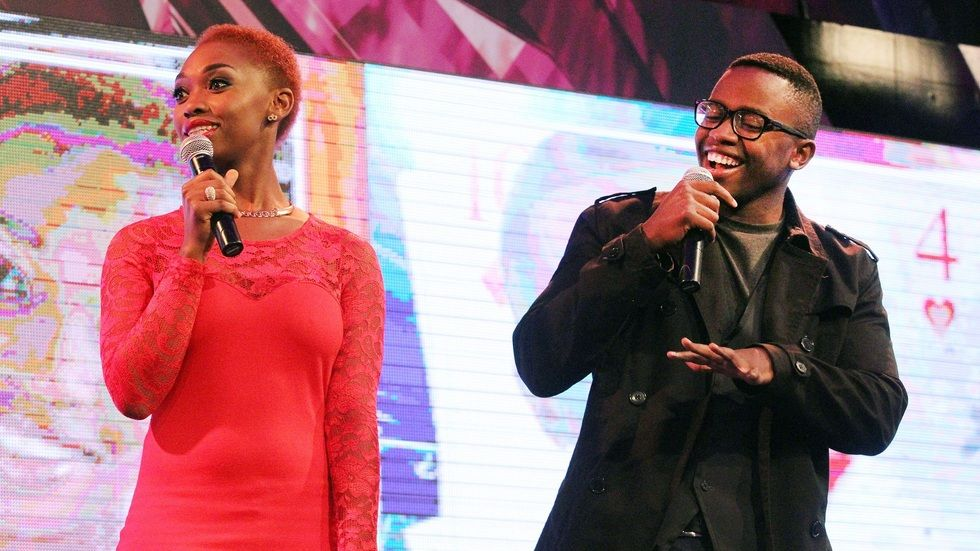 BBMzansi housemates Khali and Bongi enter the Big Brother House