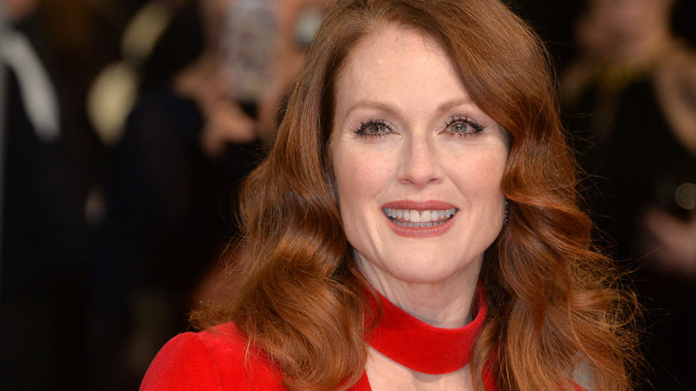 Julianne Moore in red.
