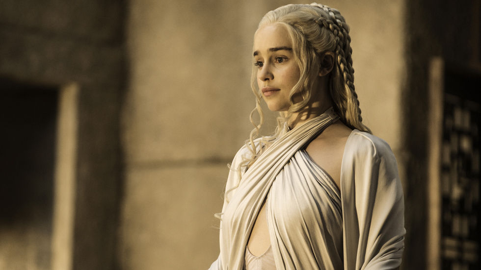 Game Of Thrones Daenerys Khaleesi in white.