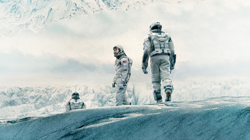 Poster for movie Interstellar.
