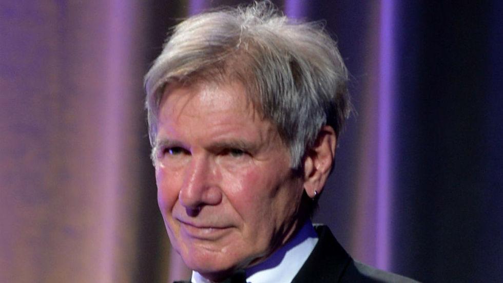 Harrison Ford press shot, face,