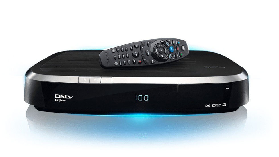 DStv Explora and remote, front shot