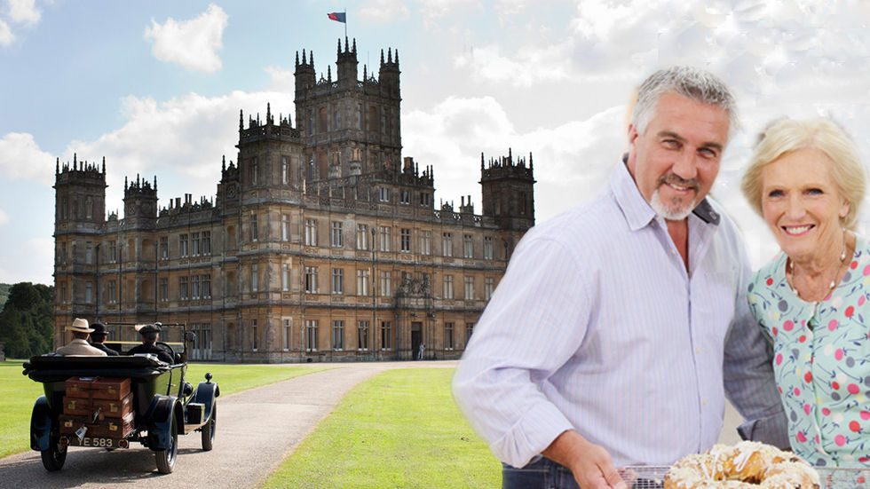 Merge image of Downton Abbey and Great British Bake Off