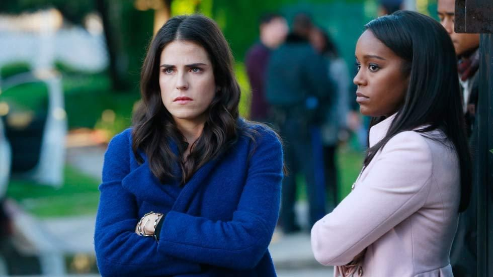 Laurel and Michaela in a scene from the TV series How To Get Away With Murder