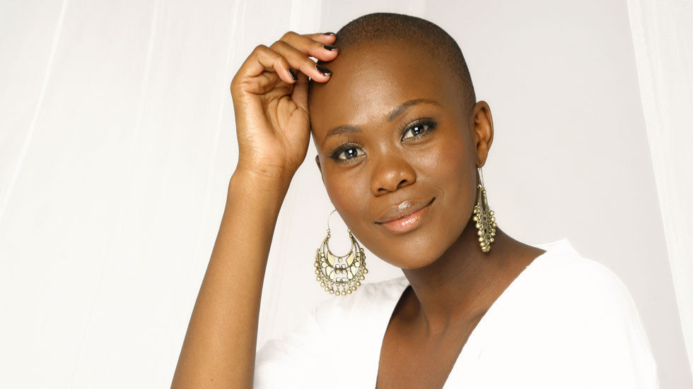 An image of Top Actor host Zikhona Sodlaka against a white background