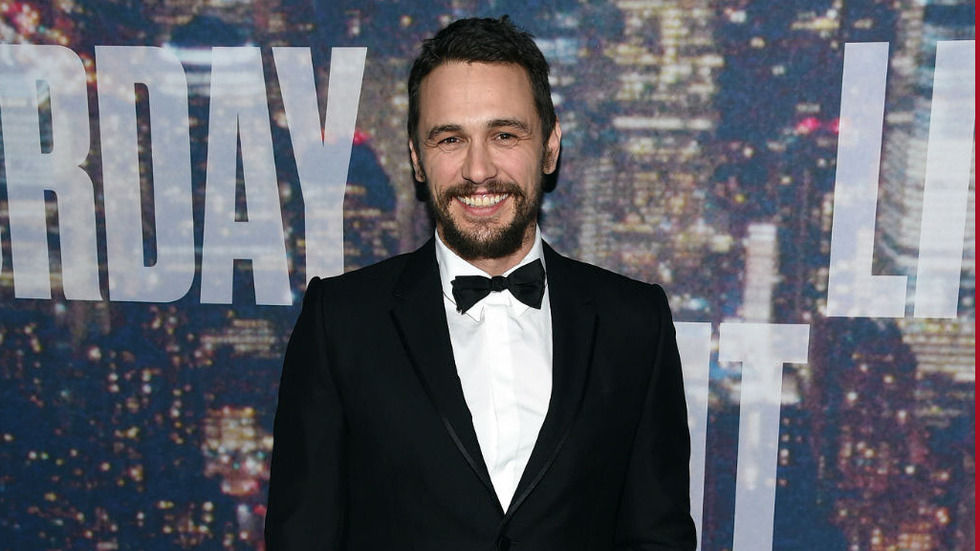 James Franco upper, press shot, smilling, tuxedo