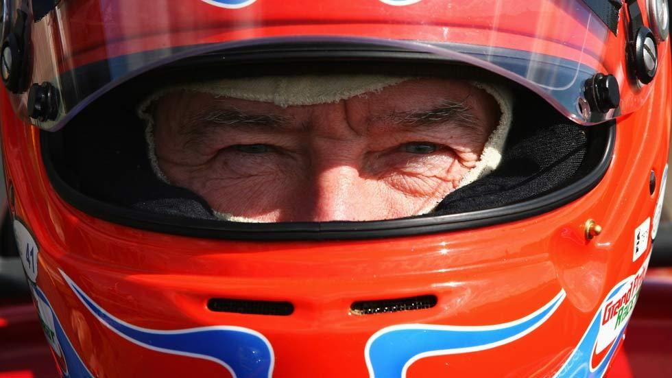Fifth Gear presenter Tiff Needell in his racing helmut