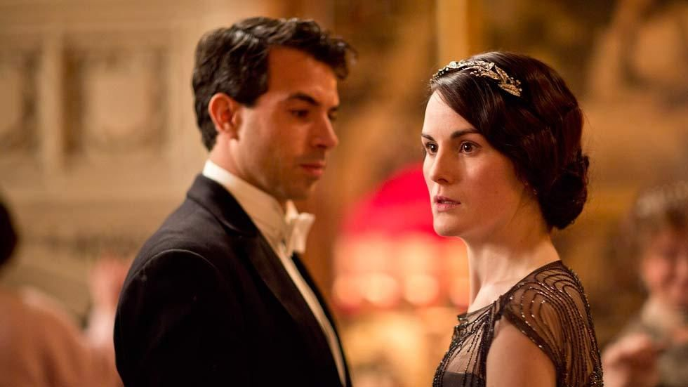 A scene from the drama Downton Abbey with Lady Mary