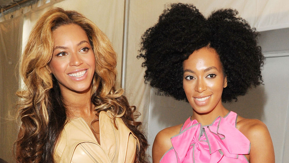 Beyonce and Solange Knowles.