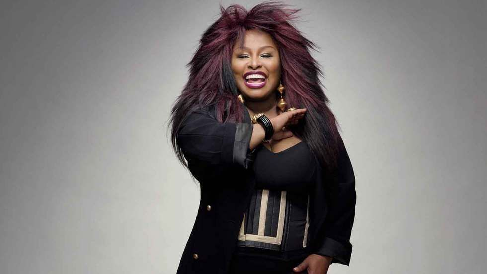 Queen of Funk Chaka Khan poses for a picture.