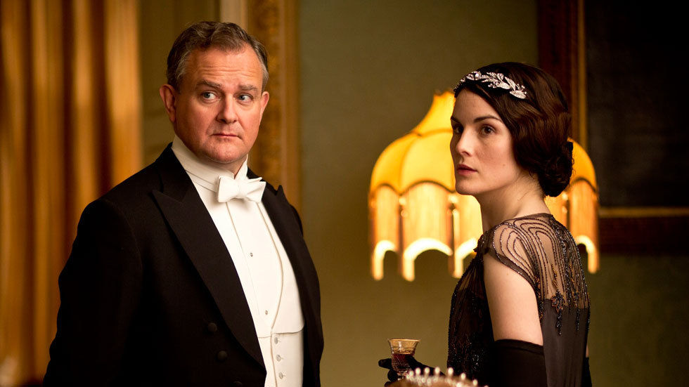Lord Grantham and Lady Mary from Downton Abbey.