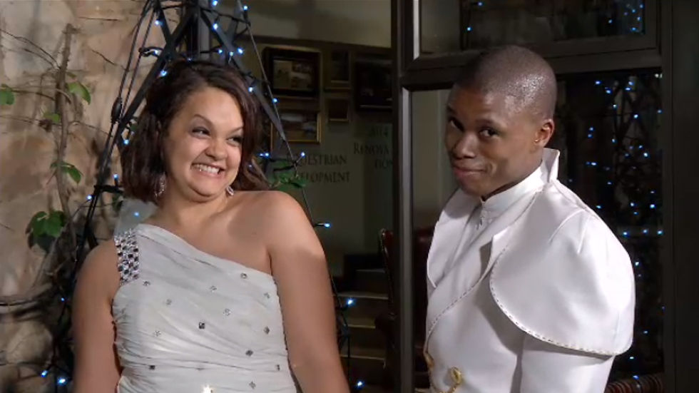 OPW couple Thabiso and Roxanne on their wedding day.