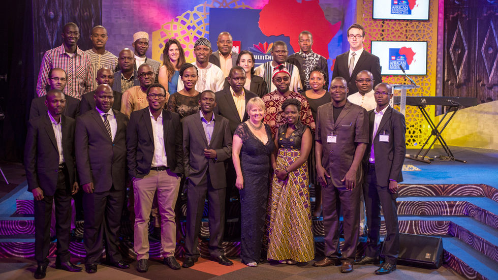 CN/MultiChoice Journalist,Awards,2015, group shot