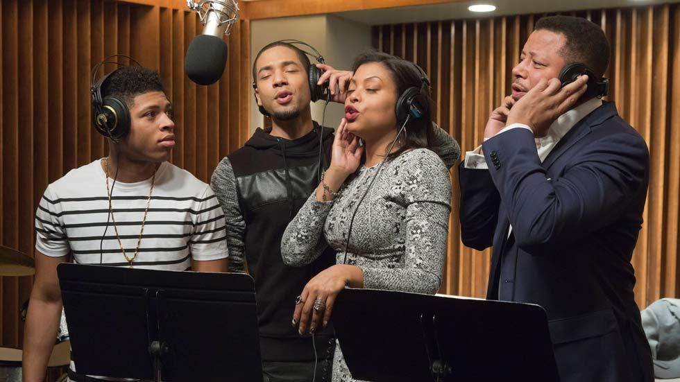 The Lyon family, Lucious, Cookie, Jamal and Hakeem in the FOX drama series, Empire