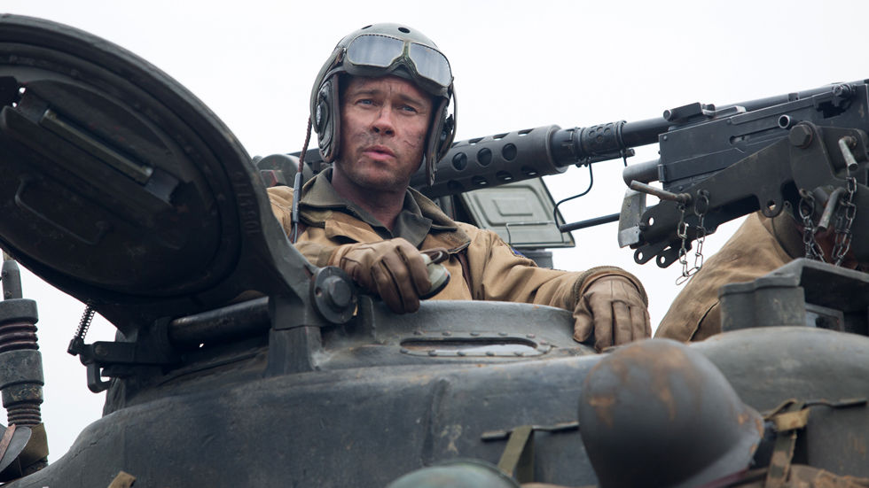 Movie: Fury with Brad Pitt.