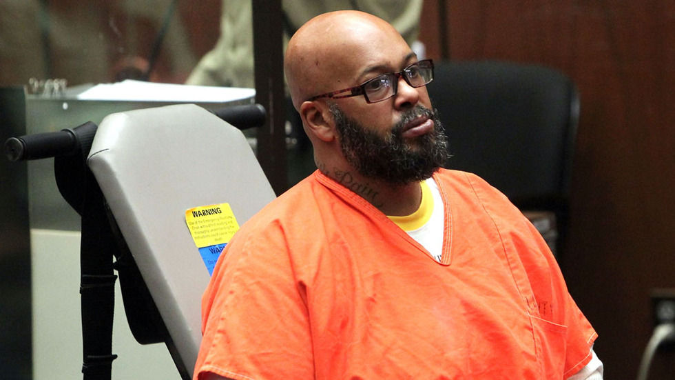 Death Row Records co-founder Suge Knight in court.