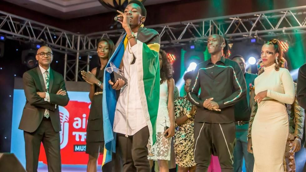 Tanzanian Mayunga Andrew Nalimi, the winner of Airtel Trace Music Star Competition 2015