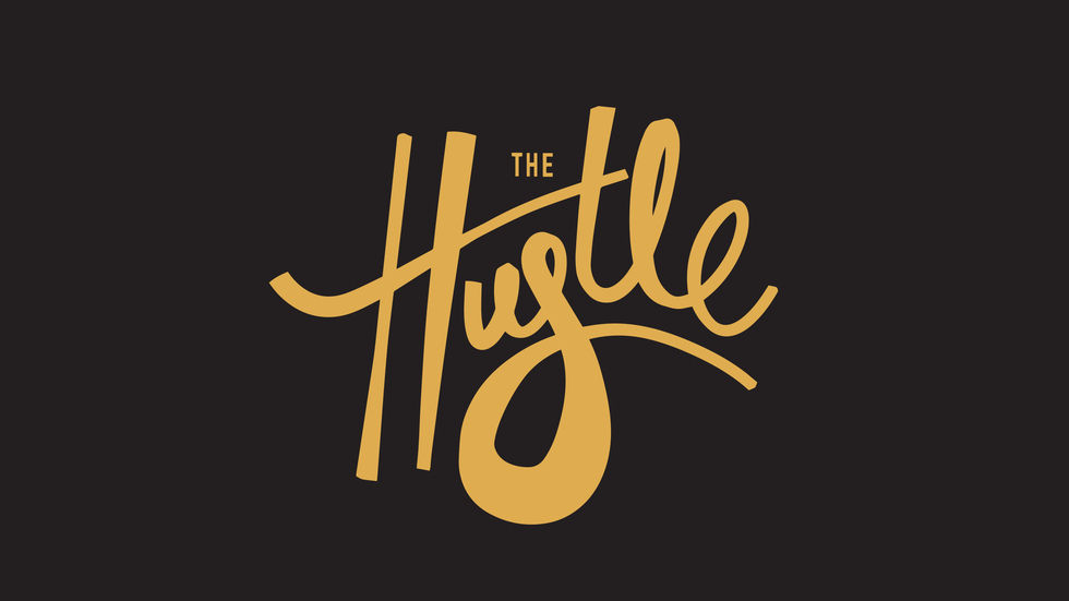 The logo for The Hustle, a new talent search competition on Vuzu AMP.