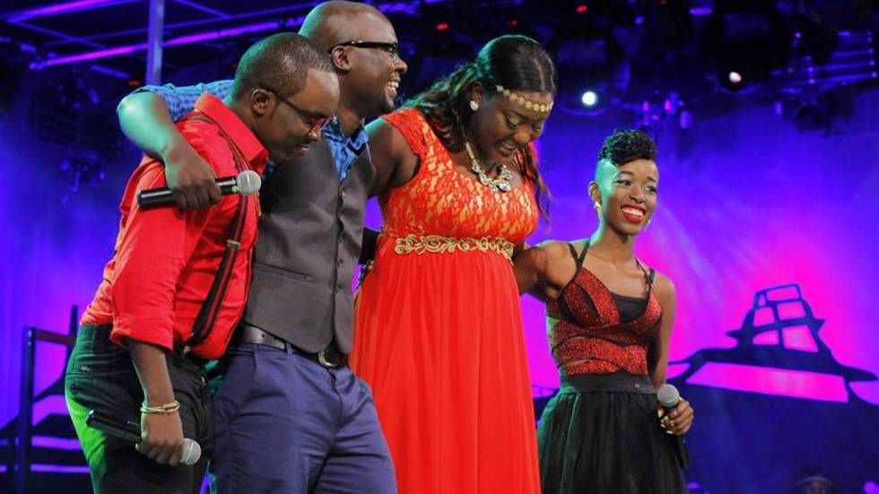 The four remaining rookie contestants in Maisha Superstar