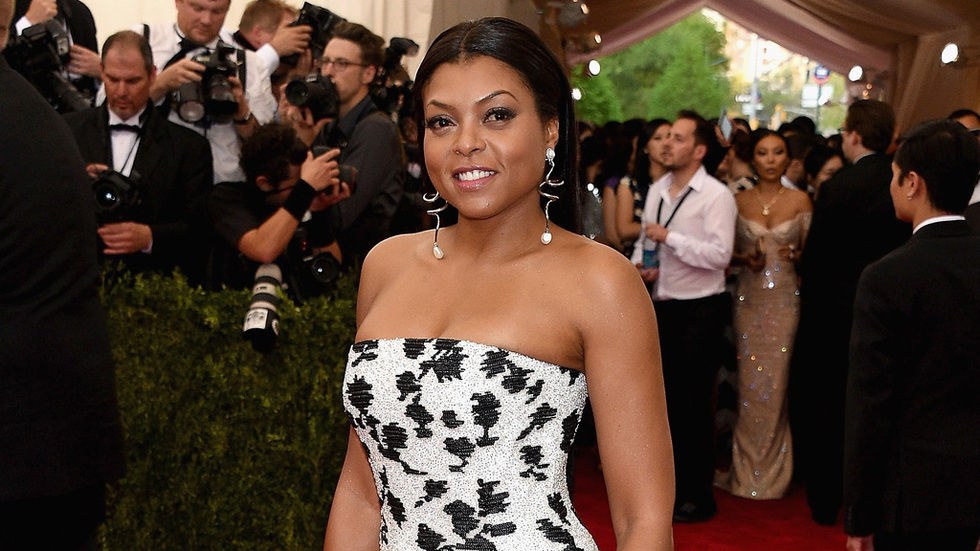 Taraji P. Henson who plays Cookie on Empire at a red carpet event.