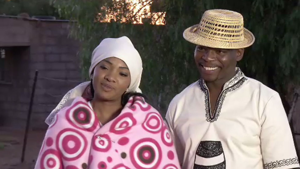 An image of OPW couple Mzwandile and Lerato on their traditional wedding day