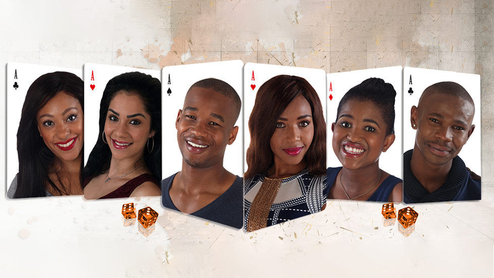 An image of the remaining of contestants from Big Brother Mzansi Chelsea, Mbali, Ntombi and Ace, K2 and Blue