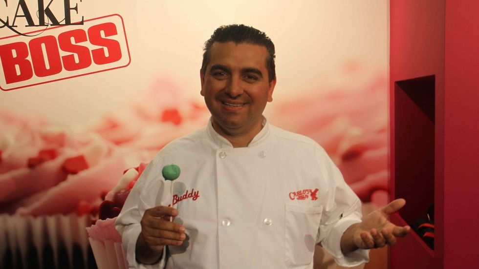 Buddy Valastro, host of TLC's Cake Boss on DStv channel 172, at the Good Food and Wine Show in Cape Town, 2015.