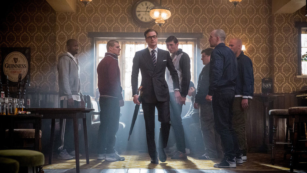 A picture of Colin Firth in Kingsman: The Secret Service.