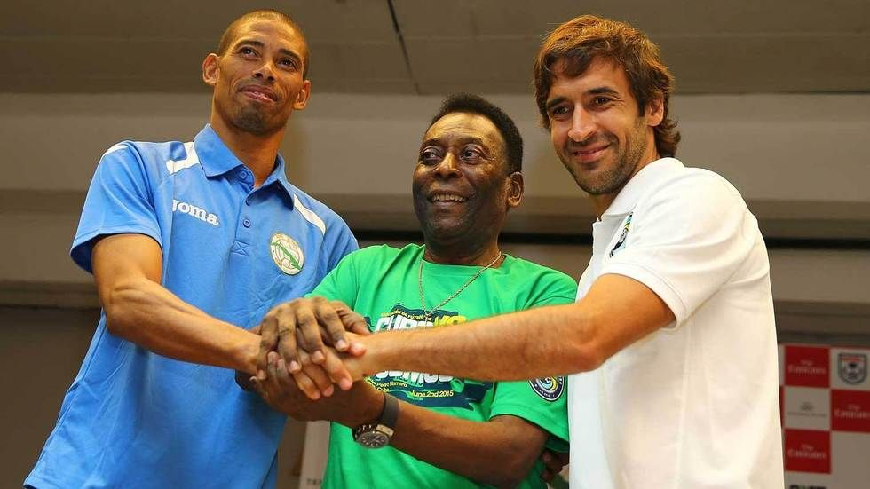Yénier Márquez, Pele and Raul Gonzalez Blanco.