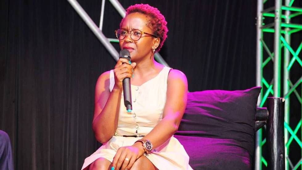 Ugandan comedienne Anne Kansiime during one of her shows.
