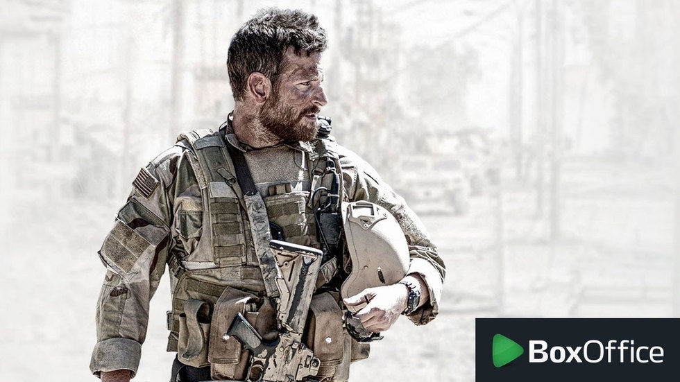 Bradley Cooper as Chris Kyle in American Sniper on BoxOffice.