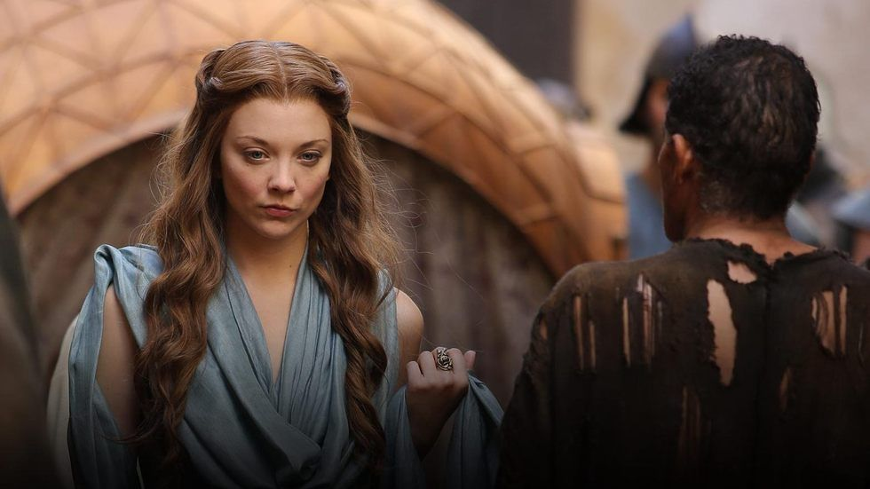 Natalie Dormer as Margaery Tyrell in Game of Thrones, airing on M-Net.