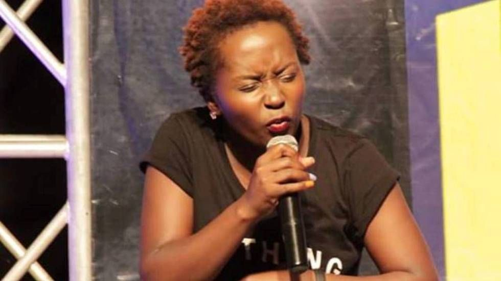 Anne Kansiime performing one of her skits on Don't mess with Kansiime.