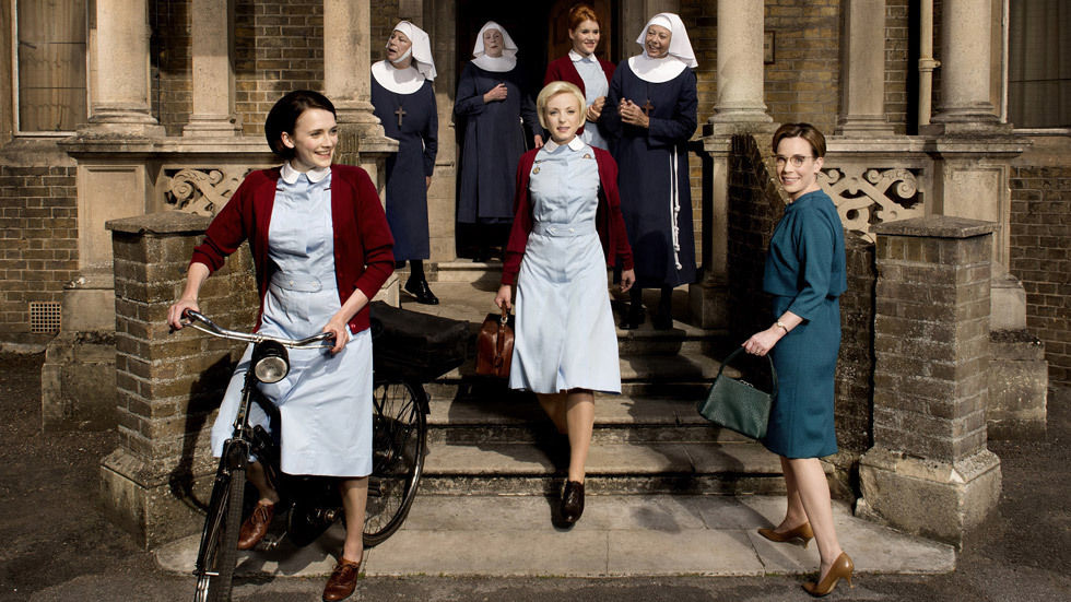 The cast of Call the Midwife on BBC Entertainment.