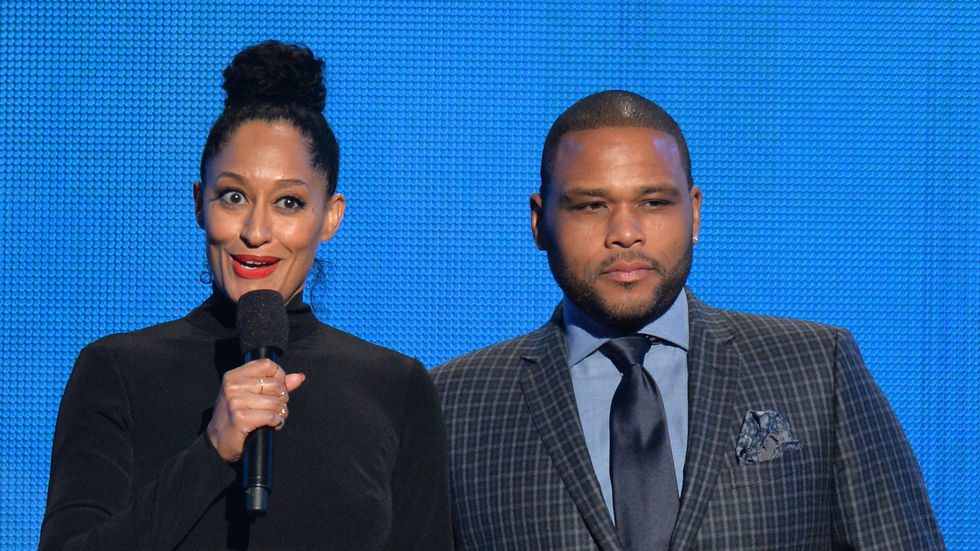 Tracee Ellis Ross and Anthony Anderson at the 2014 American Music Awards.