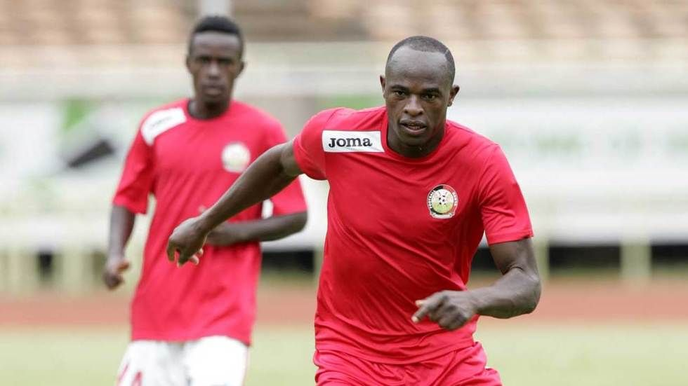 Kenya's Dennis Oliech in action.