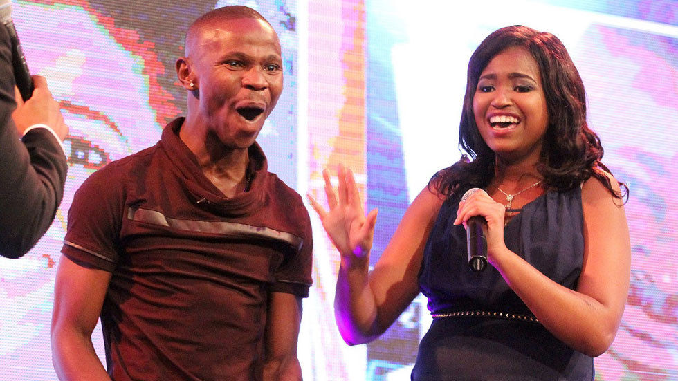 An image of #BBMzansi winners Ntombi and Ace