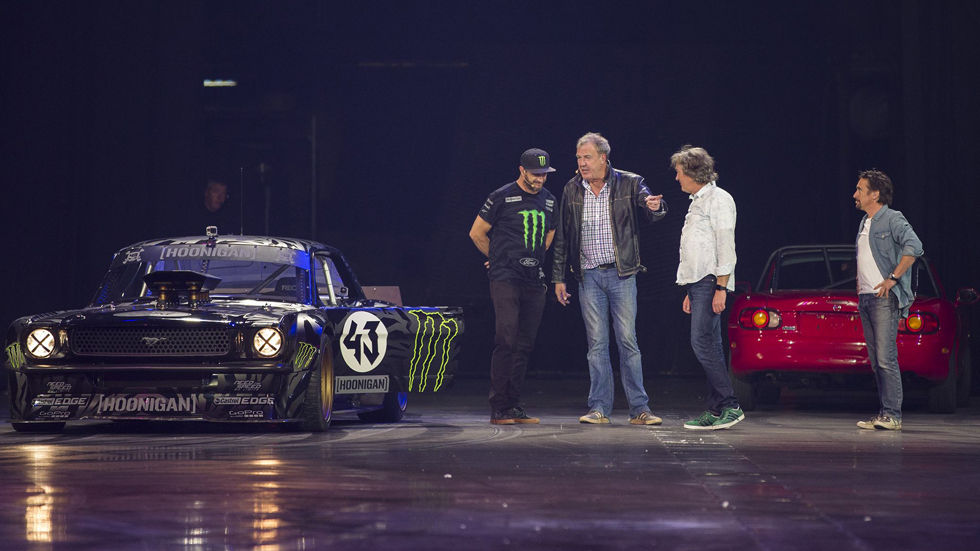 Jeremy Clarkson, Richard Hammond, James May at Clarkson, Hammond and May Live